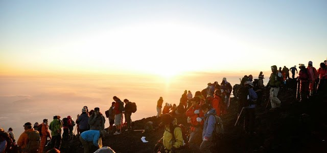 Catch the sunset on Mt. Fuji