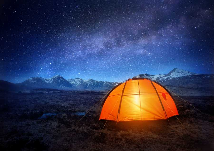 Camp out under the stars! (image via Shutterstock)