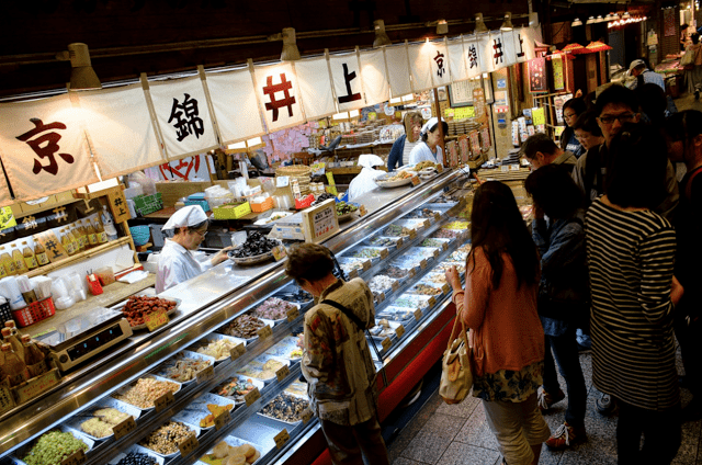 The Tsukiji Fish Market is filled with a variety of food