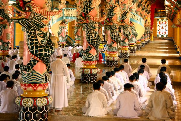 Ho Chi Minh Day Trips and Attractions: Cao Dai Temple