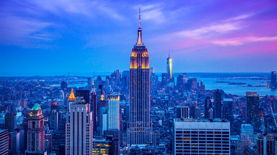 New York City as virtual backgrounds for video