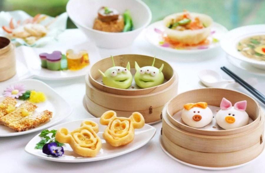 dim sum lunch at crystal lotus Disneyland Hong Kong