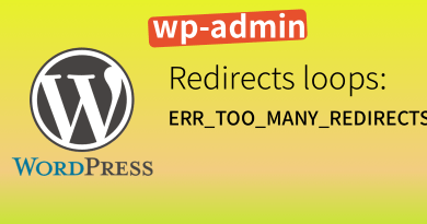 Wordpress wp-admin https redirect loops