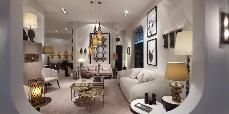 Ivory round sofa