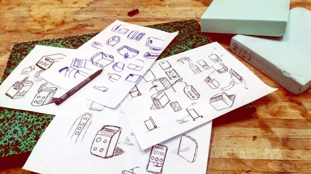 Croquis en vrac design produit
