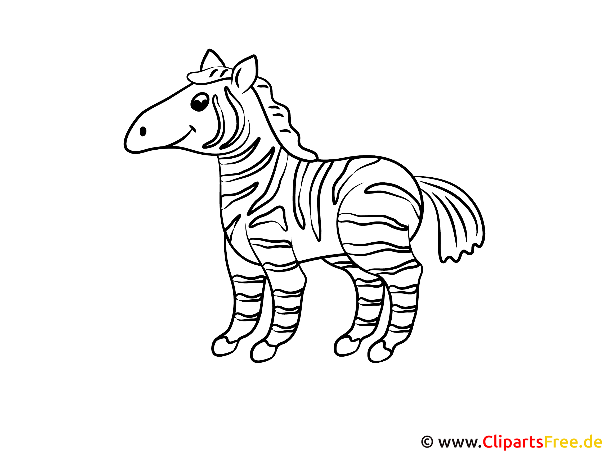 Coloring Pages For Toddlers Zebra