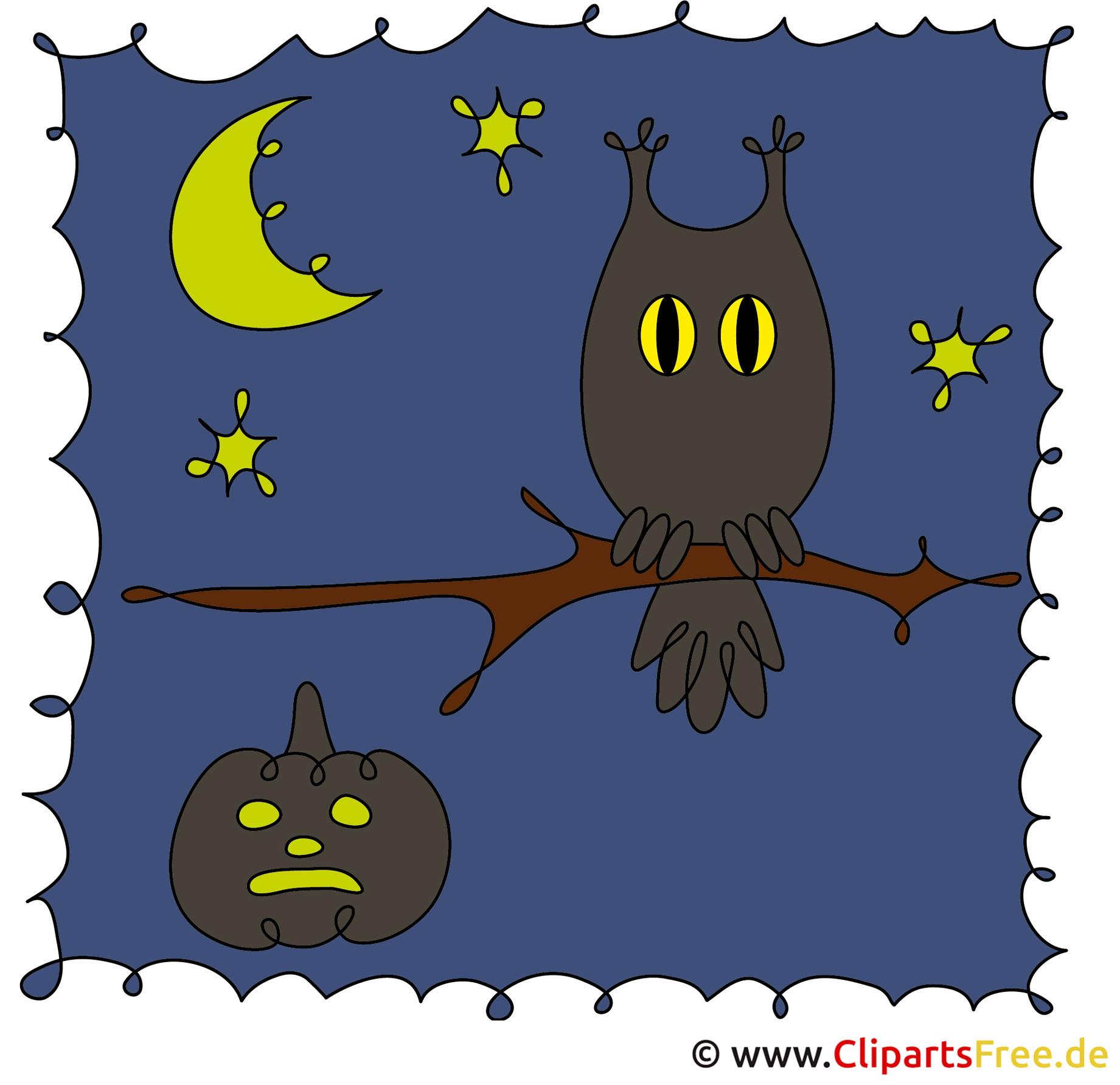 Eagle Owl Clipart On Halloween