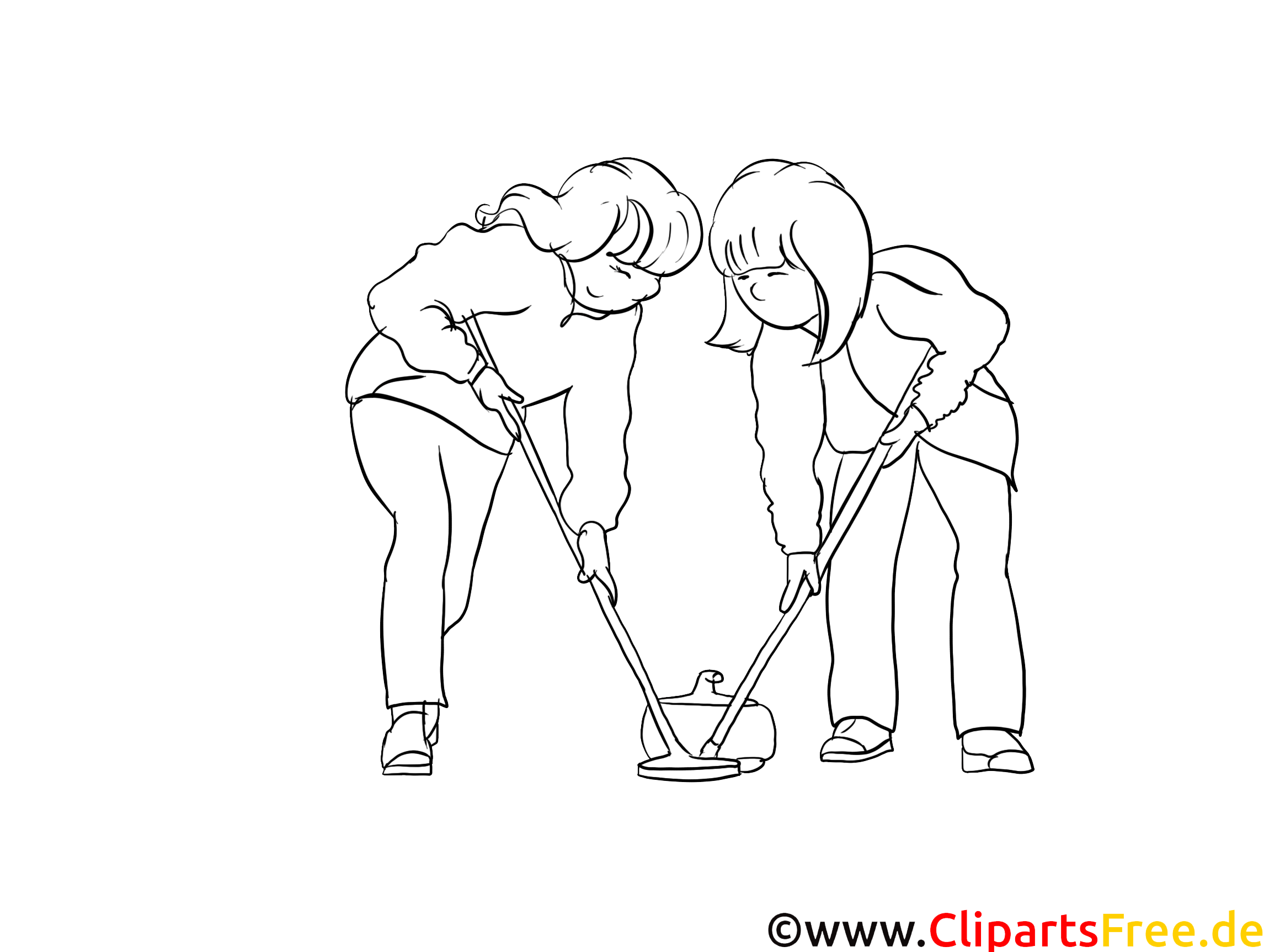 Curling Sport Coloring Pages