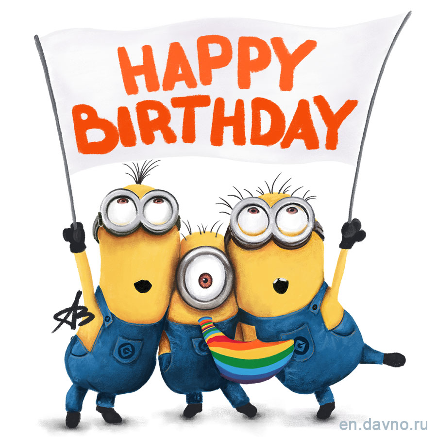 Despicable Me Minions Birthday Card Download On Davno