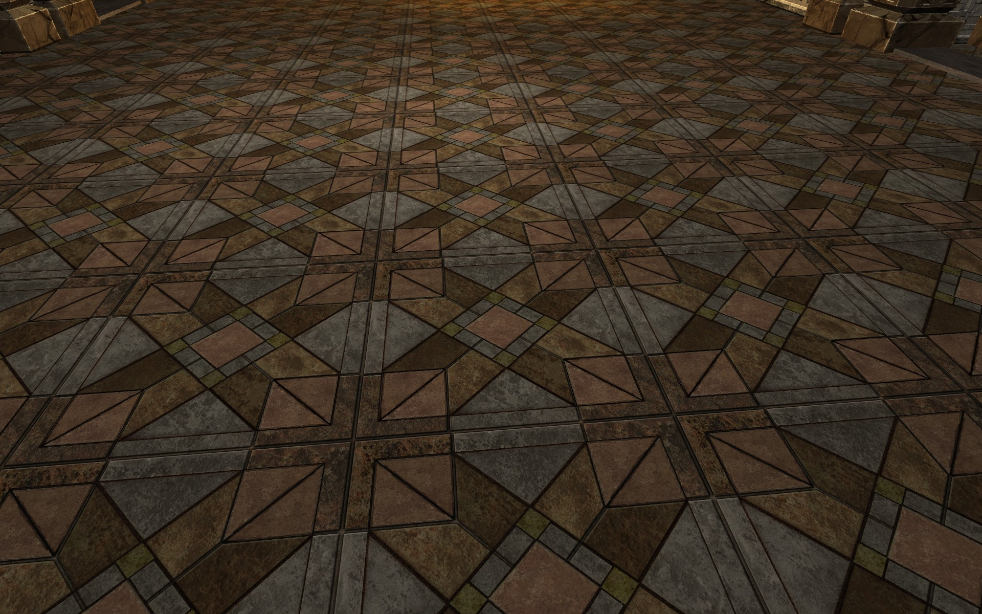 Multi-coloured Stone Floor