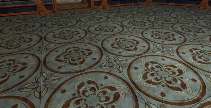 Floral Tile Floor
