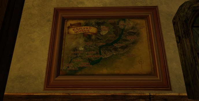 Small Map of Eastern Gondor