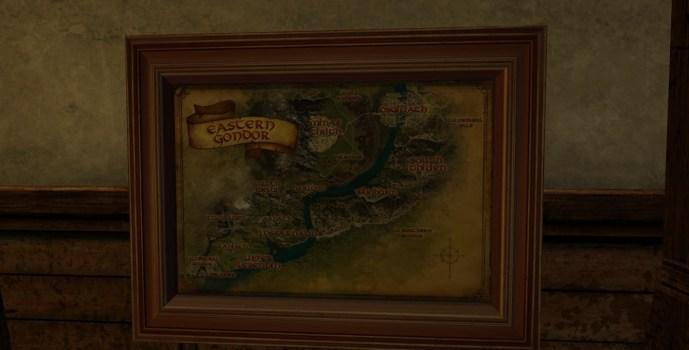 Large Map of Eastern Gondor