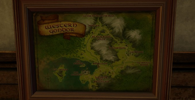 Large Map of Western Gondor