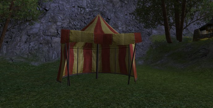 Red and Gold Tent