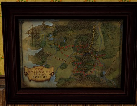 Large Map of Bingo in Middle-earth