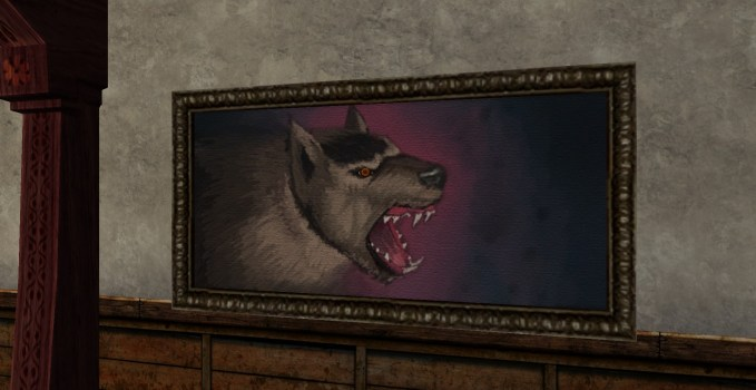 Painting of a Watchful Warg