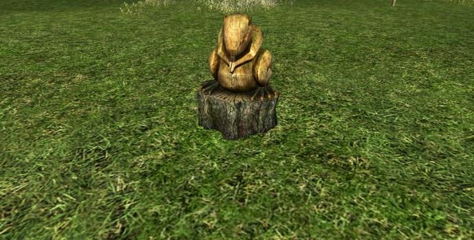 Wooden Beaver Statue
