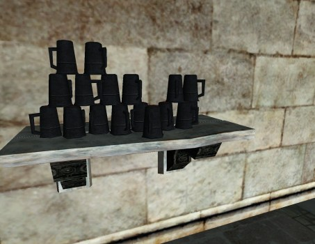 Short Shelf of Gondorian Mugs
