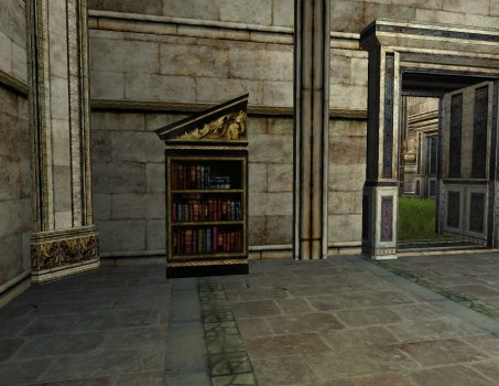 Left-sloped Gondorian Bookshelf