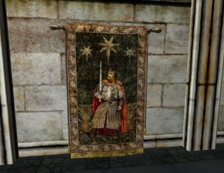 Gondorian Knight and Stars Tapestry