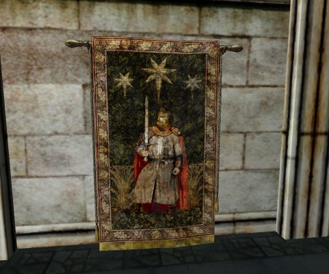 Gondorian Knight and Stars Tapestry