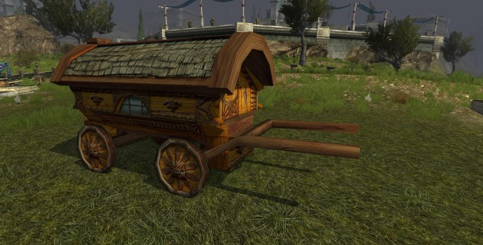 Yellow Hobbit Waggon