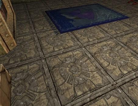 Floral Stone Tile Floor