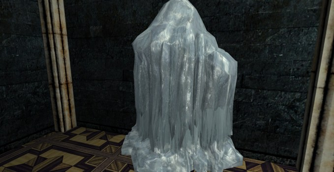 Large Frozen Ice Flow