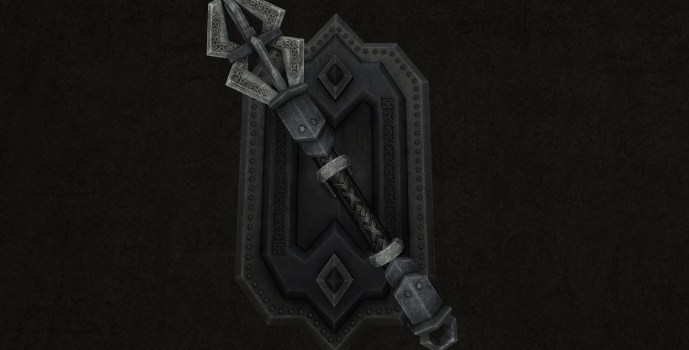 Wall-Mounted Mace