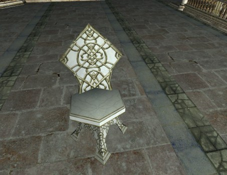 Alabaster Garden Chair