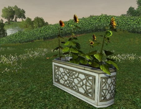 Alabaster Planter with Sunflowers