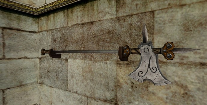 Wall-Mounted Halberd of the Vales