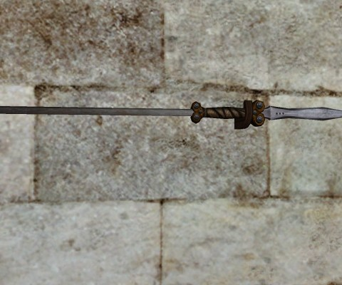 Wall-Mounted Spear of the Vales