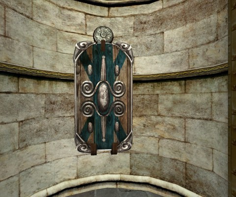 Wall-Mounted Guardian's Shield of the Vales