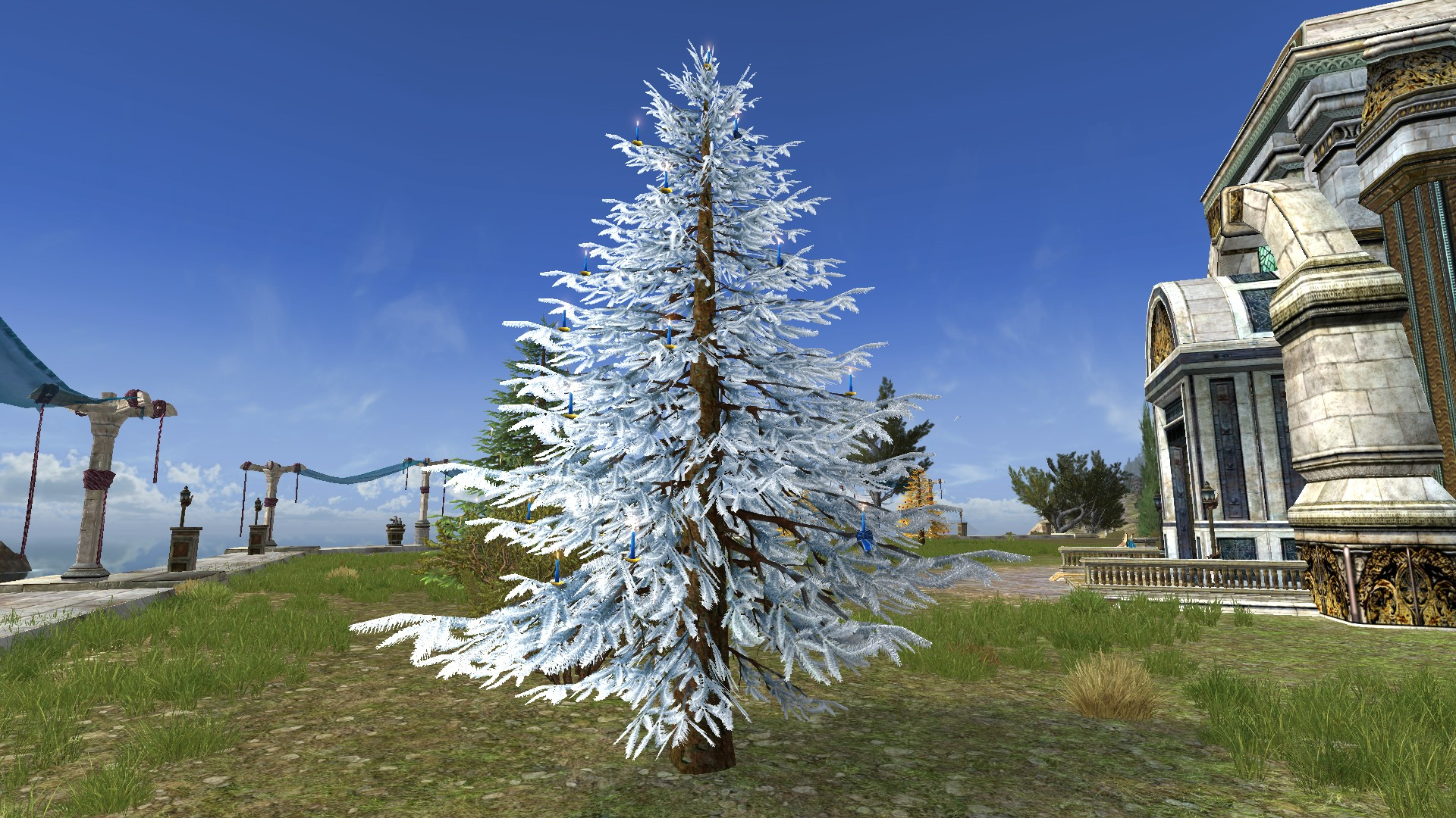 Silver Celebratory Outdoor Winter Tree