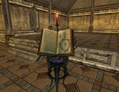 Ornate Book Stand – Chronicle of the Third Age
