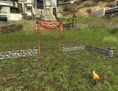 Small Hobnanigans Field with Red Chicken