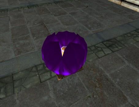 Purple Floating Lantern – Closed
