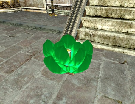 Green Floating Lantern – Half-Open