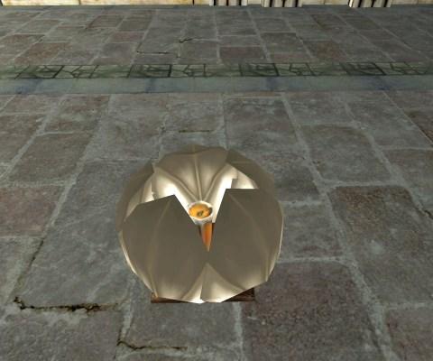 White Floating Lantern – Closed