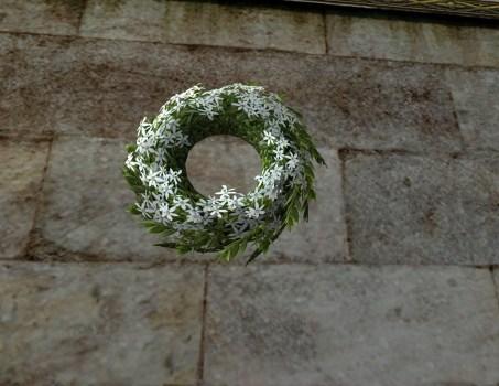 White Midsummer Floral Wreath