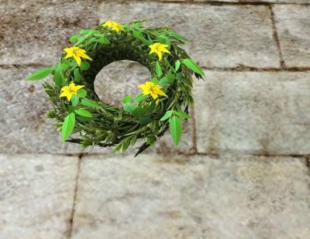 Yellow Midsummer Floral Wreath