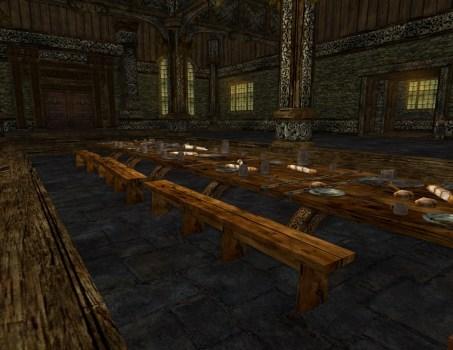 Laden Banquet Table