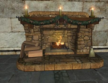 Cozy Yule Fireplace