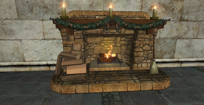 Cozy Yule Fireplace