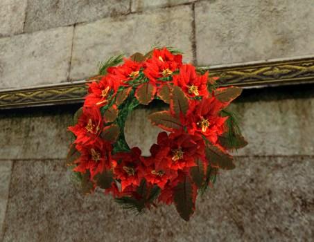 Bountiful Red Poinsettia Wreath