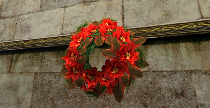 Bountiful Red Poinsettia Wreath