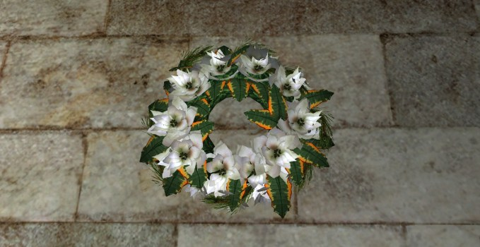 Bountiful White Poinsettia Wreath