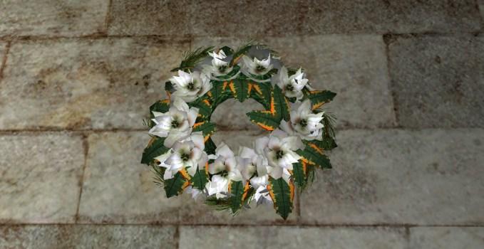 Bountiful White Poinsettia Wreath